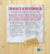Travaux d'intérieur - 4ème de couverture - Format classique