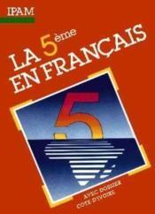 La 5e en francais - Couverture - Format classique