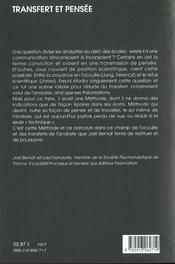 Transfert Et Pensee - 4ème de couverture - Format classique