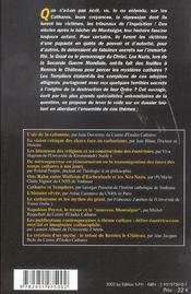 Cathares, Au Dela Des Mysteres - 4ème de couverture - Format classique