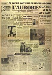 Aurore France Libre (L') N°1334 du 28/12/1948 - Couverture - Format classique