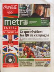 Metro Paris N°2185 du 29/03/2012 - Couverture - Format classique