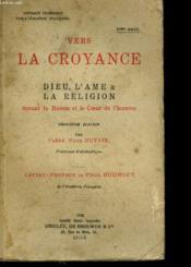 Vers La Croyance - Couverture - Format classique