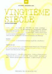 Revue Vingtieme Siecle N.88 ; Enjeux, Points De Vue - Intérieur - Format classique