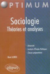 Sociologie ; théories et analyses - Intérieur - Format classique