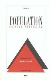 Population N 1 Janvier Fevrier 2003 - Intérieur - Format classique