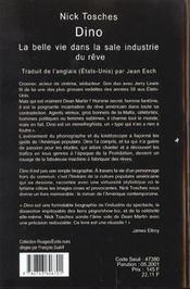 Dino La Belle Vie Dans La Sale Inductrie Du Reve - 4ème de couverture - Format classique