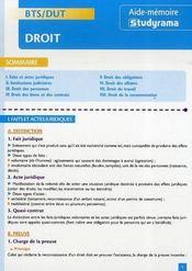 Bts/dut ; Droit - Intérieur - Format classique