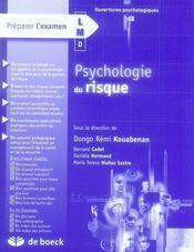 Psychologie du risque - Intérieur - Format classique