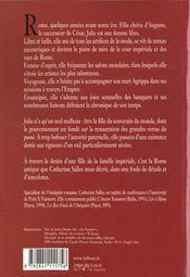 L'Art De Vivre Au Temps De Julie, Fille D'Auguste - 4ème de couverture - Format classique