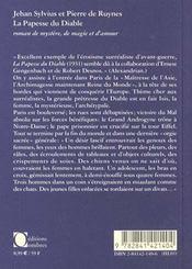 Papesse Du Diable (La) - 4ème de couverture - Format classique