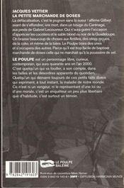 La Petite Marchande De Doses - 4ème de couverture - Format classique