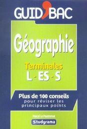 Geographie Terminale L/Es/S - Intérieur - Format classique