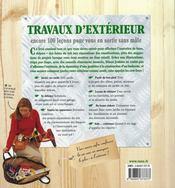 Travaux d'extérieur - 4ème de couverture - Format classique