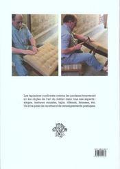 Tapisserie d'ameublement - 4ème de couverture - Format classique