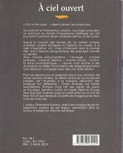A Ciel Ouvert - 4ème de couverture - Format classique