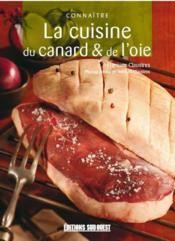 Connaitre La Cuisine Du Canard Et De L'Oie - Couverture - Format classique
