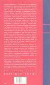 Paris Ville Moderne - 4ème de couverture - Format classique