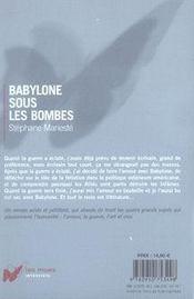 Babylone Sous Les Bombes - 4ème de couverture - Format classique
