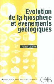 Évolution de la biosphère et événements géologiques - Intérieur - Format classique