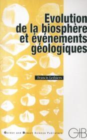 Évolution de la biosphère et événements géologiques - Couverture - Format classique