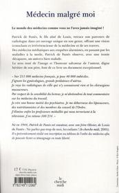 Medecin Malgre Moi - 4ème de couverture - Format classique