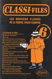 Les Dossiers Classes De La Presse Anglo-Saxonne Tome 6 - Intérieur - Format classique