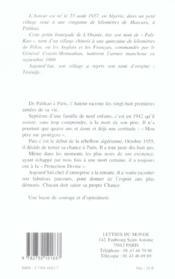 Destinee - 4ème de couverture - Format classique