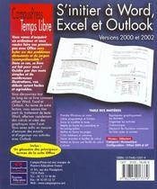 S'Initier À Word, Excel, Outlook - 4ème de couverture - Format classique
