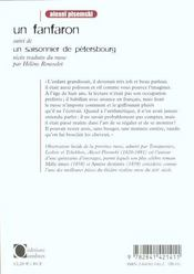Fanfaron (Un) - 4ème de couverture - Format classique
