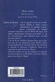 Mots croisés - 4ème de couverture - Format classique