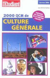 2000 Qcm De Culture Generale (2006) - Intérieur - Format classique