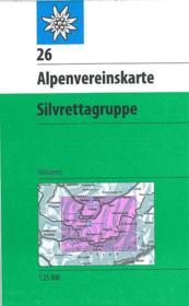 Alpenvereinskarte / Silvrettagruppe - Couverture - Format classique