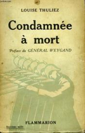 Condamnee A Mort. - Couverture - Format classique