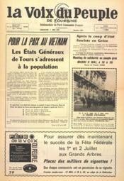 Voix Du Peuple De Touraine (La) N°1345 du 07/05/1967 - Couverture - Format classique