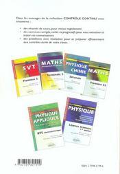 Controle Continu ; Physique Appliquée T.2 ; Puissances, Machines ; Bts Electrotechnique - 4ème de couverture - Format classique