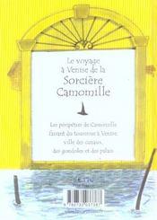 Le Voyage A Venise De La Sorciere Camomille - 4ème de couverture - Format classique