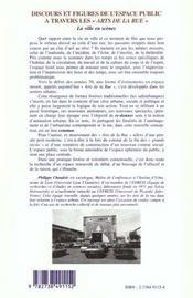 Discours Et Figures De L'Espace Public A Travers Les Arts De La Rue ; La Ville En Scenes - 4ème de couverture - Format classique