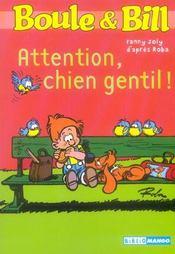Boule et Bill ; attention, chien gentil ! - Intérieur - Format classique