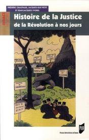 Histoire de la justice. de la Révolution à nos jours - Intérieur - Format classique
