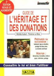 Guide Investir De L'Heritage Et Des Donations ; 2e Edition - Couverture - Format classique