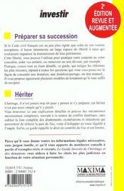 Guide Investir De L'Heritage Et Des Donations ; 2e Edition - 4ème de couverture - Format classique