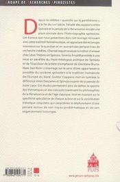 Spinoza et la renaissance - 4ème de couverture - Format classique