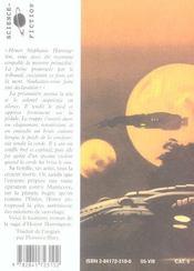 Honor Harrington, La Disparue De L'Enfer T.1 - 4ème de couverture - Format classique