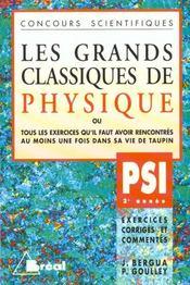 Grands classiques de physique psi - Intérieur - Format classique