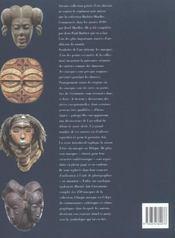 L'autre visage ; masques africains (collection barbier-muelier) - 4ème de couverture - Format classique
