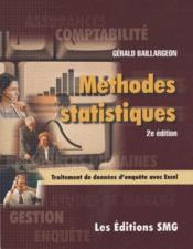 Méthodes, statistiques ; traitement de données d'enquête avec excel (2e édition) - Couverture - Format classique