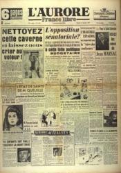 Aurore France Libre (L') N°1337 du 31/12/1948 - Couverture - Format classique