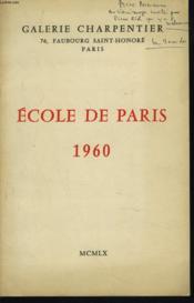 Ecole De Paris 1960 - Couverture - Format classique