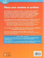 Pieces Pour Monstres Et Sorcieres 6/10 Ans - 4ème de couverture - Format classique